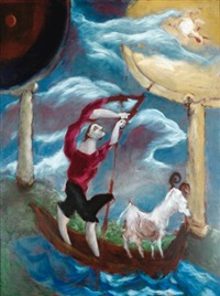 le pêcheur et la chèvre by gérard garouste