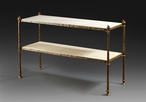 console table by diego giacometti