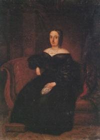 retrato de doña juana de posada y lópez cabrejas, esposa de don juan pablo pérez-caballero y soria by maria del rosario weiss