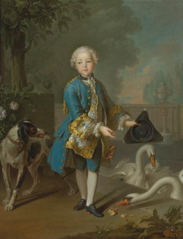 portrait of louis philippe joseph duc dorleans and duc de chartres by louis tocqué