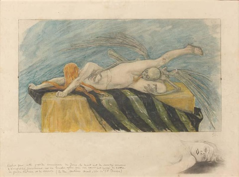 lagonie by félicien joseph victor rops