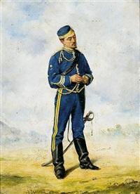 husar de la reina. capitán by josep (josé) cusachs y cusachs