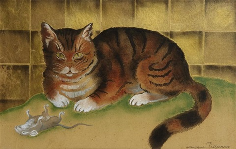 le chat by georges manzana pissarro