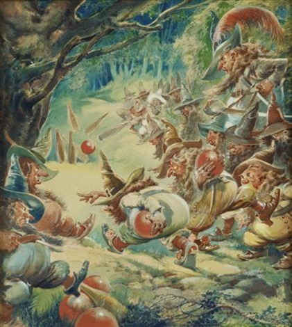 the gnomes bowling by everett shinn