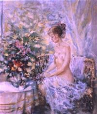 le nu et les fleurs by oleg gurenkov