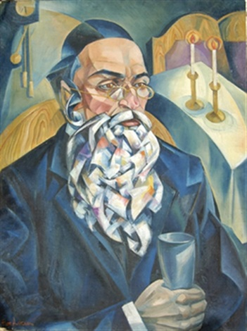 portrait of a jewish man by natan isaevich altman