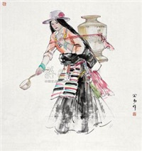 西藏印象 by jiang yixun