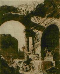 vue de ruines by pierre lelu