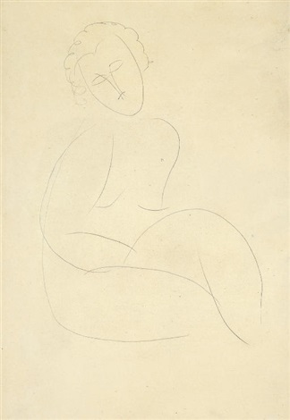 femme nue assise by amedeo modigliani