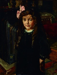 portrait of dora rodergues rereir, six years, 1917 by henri frédéric boot