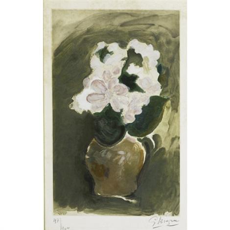 les fleurs violets by georges braque