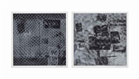 surface series, from currents: two plates by robert rauschenberg