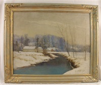 the homestead in winter by eugene leslie smythe