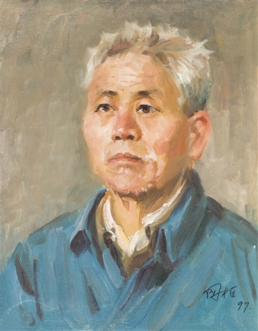 the portrait of an old man a young woman of chongqing 2 works by liu guoshu
