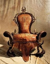 monsinior鳄鱼皮椅 by michel haillard