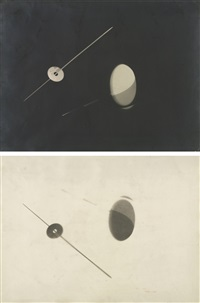 negative/positive photogram pair by lászló moholy-nagy