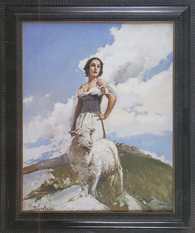 bergère et mouton by romualdo locatelli