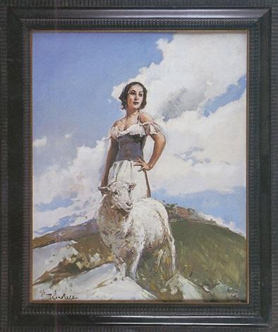 bergère et mouton by romualdo locatelli
