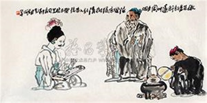 品茗听琴 by yang xiaoyang