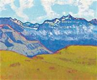 fernab, blick in die urner hochalpen (sittlisalp) (from a distance, view of the high alps of uri (sittlisalp)) by walter ropele