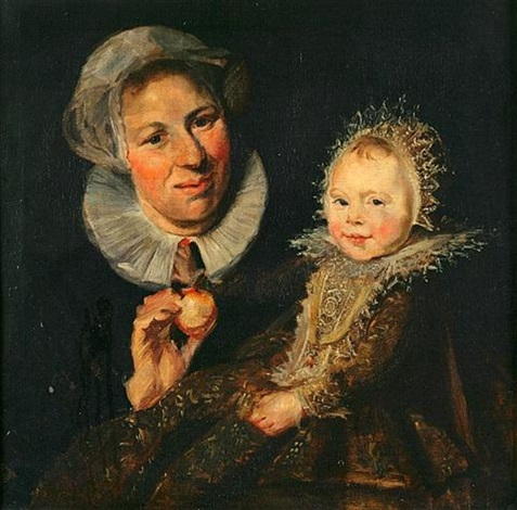 catherine hooft and her nurse by frans hals the elder