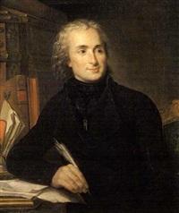 portrait de l'abbé de montesquiou-fezensac à son bureau by guillaume voiriot