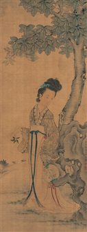 仕女图 (lady) by kang tao