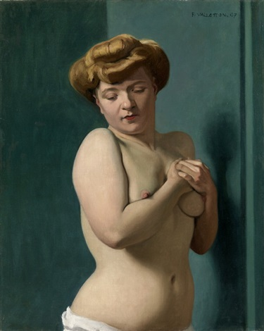 torse de femme nue blonde 1907 by félix edouard vallotton