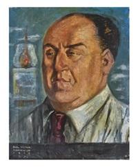 retrato de víctor raúl haya de la torre by roberto montenegro