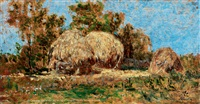 sunlit landscape by geza mészöly