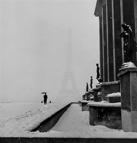 veiled eiffel tower from the palais de chaillot paris by lee miller