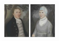 a pair of portraits of a man and a woman by american school (19)