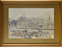 a panoramic view of newcastle city from gateshead by robert jobling