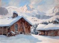 la clusaz en hiver by eugène bernhardt