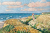 girl on the beach of the baltic sea by otto heinrich engel