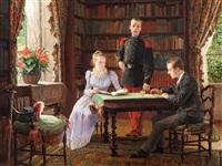library scene by maurice leloir