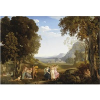 paesaggio istoriato by luigi basiletti
