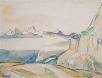 berglandschaft by egon hofmann-linz