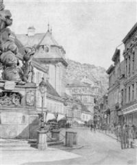 hauptplatz in baden by franz bilko