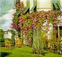 bougainvilla on the terrace by sally blyth mummert