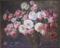 still life of roses by carle john blenner