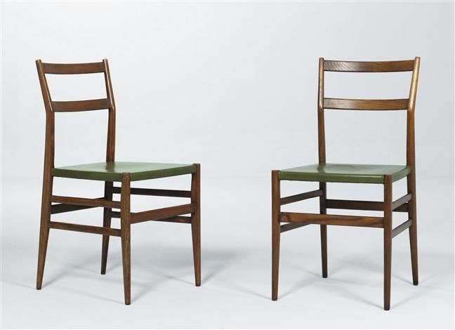 Leggera chairs model no 646 pair by gio ponti on artnet - Sedia leggera gio ponti ...