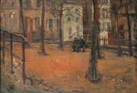 hommes assis sur un banc by benito berrueta asteinza