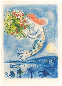 la baie des anges, paris by marc chagall