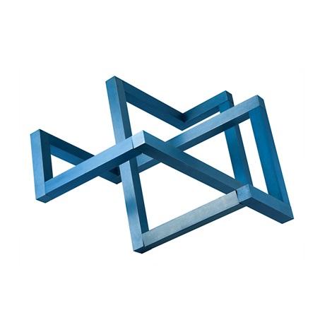 laser daze interlocking blue squares by forrest warden myers