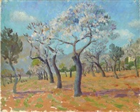 majorcan orchard in spring by edward le bas