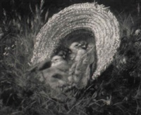 chicks in a straw hat by franklin whiting rogers