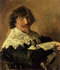 portrait of a man (nicolaes hasselaer?) by willem stad