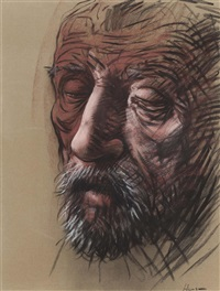 study for the penitent peter by peter howson