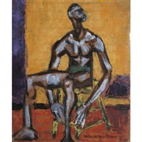 seated man by natalie van vleck